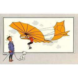 ABAO Bandes dessinées [Hergé] Tintin - Voir et Savoir : Aviation, série 1 chromo n°03
