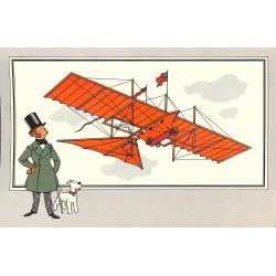 ABAO Bandes dessinées [Hergé] Tintin - Voir et Savoir : Aviation, série 1 chromo n°02