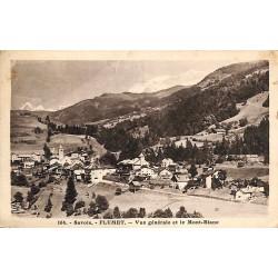 ABAO 73 - Savoie [73] Flumet - Vue générale et le Mont-Blanc.