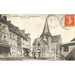 ABAO 14 - Calvados [14] Beaumont-en-Auge - L'Eglise (côté ouest) et Place du Crochet.