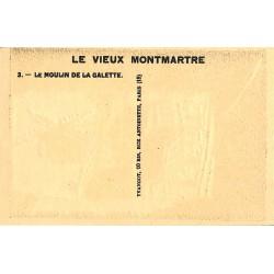 ABAO 75 - Paris Yvangot - [75] Paris 18 - Vieux Montmartre. Le Moulin de la Galette. - Gravure sur bois.
