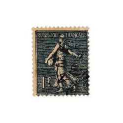 ABAO France 1926 - Semeuse lignée 2ème série 1F bleu.