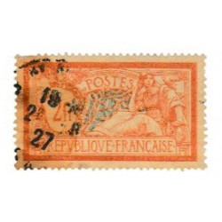 ABAO France 1920 - Merson 2 F orange et vert-bleu