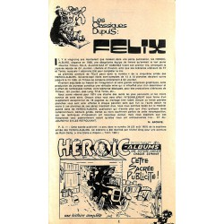 Bandes dessinées Félix - Les Classiques Dupuis : Tillieux. 21 livraisons.