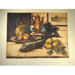 Gravures OLEFFE (Auguste) - Nature morte.
