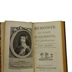 ABAO Biographies Hamilton (Antoine) - Mémoires du Comte de Grammont.