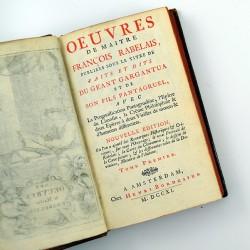 ABAO Littérature Rabelais (François) - Oeuvres de maître François Rabelais. 5 tomes.