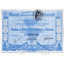 ABAO Billets, actions, monnaies [Action] Compagnie Universelle Du Canal Interoceanique De Panama.