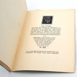 ABAO Livres illustrés Braun (Thomas) - Ex-Voto. Bois de Maurice Brocas.