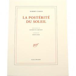 ABAO Photographie [Grindat (Henriette)] Camus (Albert) - La Postérité du soleil. Itinéraire par René Char.