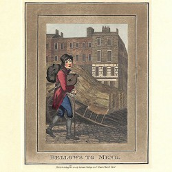 ABAO Gravures [Londres] Philips (Richard) - Bellows to mend.