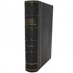 Histoire Lacroix (Paul) - XVIIIème siècle. Institutions, usages et costumes.