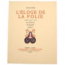 ABAO Livres illustrés Erasme - L'Eloge de la folie. Illustrations de Dubout.