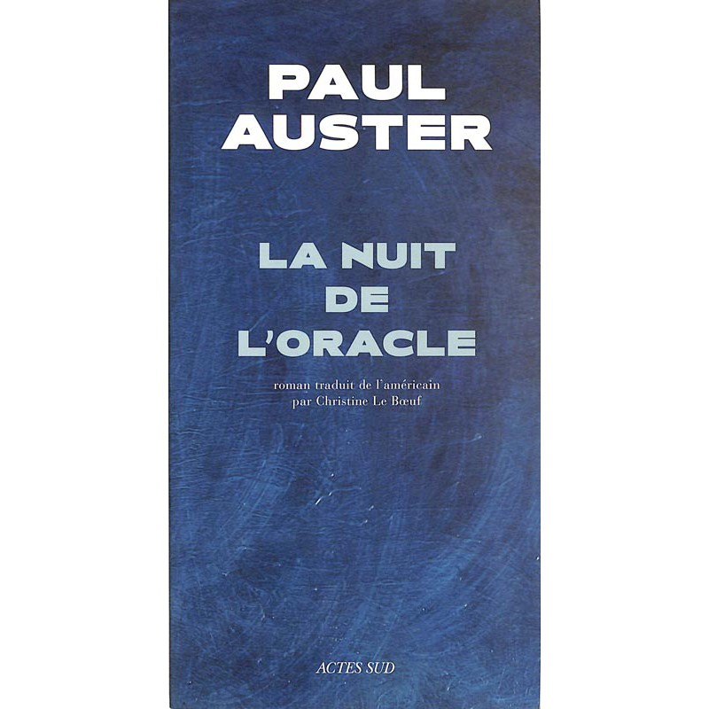 ABAO Romans Auster (Paul) - La Nuit de l'oracle.