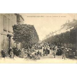 ABAO 17 - Charente-Maritime [17] Rochefort-sur-Mer - Rue de l'Arsenal et marché.