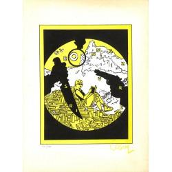 ABAO Sérigraphies & posters Cosey - Ovronnaz sur crime. Sérigraphie signée et num. / 200