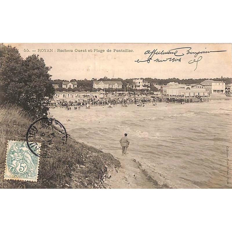 ABAO 17 - Charente-Maritime [17] Royan - Rochers Ouest et Plage de Pontaillac.