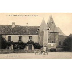 ABAO 72 - Sarthe [72] Chantenay - La Mairie et l'Eglise.
