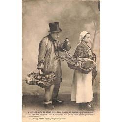ABAO 72 - Sarthe [72] Costume sarthois - Père Quéru et Maîtresse Chantepie.