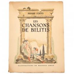 ABAO Curiosa Louÿs (Pierre) - Les Chansons de Bilitis. Illustrations de Maurice Leroy.