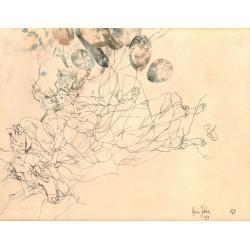 ABAO Art-gallery Julien (René) - Dessin original à l'encre et à l'aquarelle.