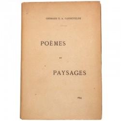 ABAO Poésie Vandevelde (Georges E.A.) - Poèmes et paysages.