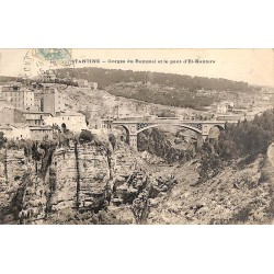 ABAO Algérie Constantine - Gorges du Rummel et le pont d'El-Kantara.