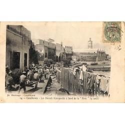 """ABAO Maroc Casablanca - Les Blessés transportés à bord de la """"Nive""""."""