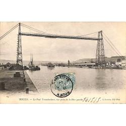 ABAO 76 - Seine Maritime [76] Rouen - Le Pont Transbordeur, vue prise de la Rive gauche.
