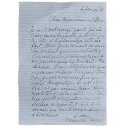 ABAO Lettres et manuscrits Denis (Maurice) - Lettre autographe signée.