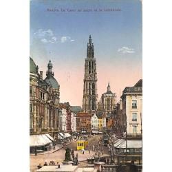 ABAO Anvers Anvers - Le Canal au sucre et la cathédrale.