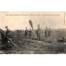 ABAO Anvers Brasschaat - Camp de Brasschaet-Polygone. Artillerie montée. Le commandant en observé.
