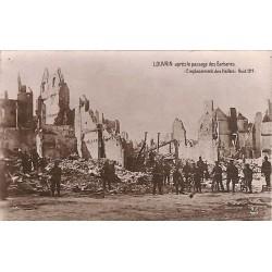 ABAO Brabant flamand Louvain - Après le passage des Barbares. Emplacement des Halles. Août 1914.