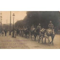 ABAO Militariat Troupes allemandes, Bois de la Cambre, Brux. 24 août 1914 6H.