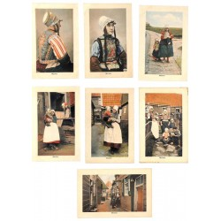 ABAO Pays-Bas Marken (Costumes) 7 cartes.