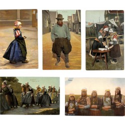 ABAO Pays-Bas Marken (Costumes) 5 cartes.