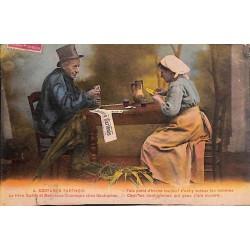 ABAO 72 - Sarthe [72] Costumes sarthois - Le Père Quéru et Maîtresse Chantepie chez Gautupeau.