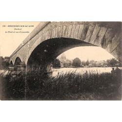 ABAO 72 - Sarthe [72] Bazougues-sur-le-loir - Le Pont et vue d'ensemble.