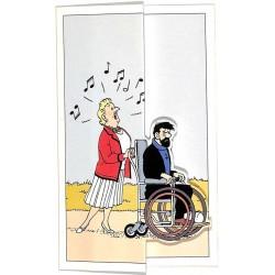 ABAO Cartes postales [Hergé] Tintin - Carte pop-up BASF. Castafiore et Haddock.