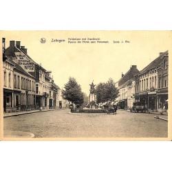 ABAO Flandre orientale Zottegem - Avenue des Héros avec monument.