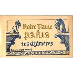 ABAO 75 - Paris [75] Paris 04 - Notre Dame de Paris. Les Chimères. Carnet de 20 cartes.