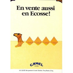 ABAO Publicité Camel - En vente aussi en Écosse !