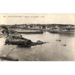 ABAO 56 - Morbihan [56] Belle-Île-en-Mer - Sauzon, vue générale.