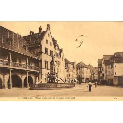 ABAO 68 - Haut-Rhin [68] Colmar - Place Schwendi et Fontaine Schwendi.