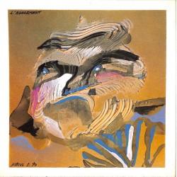 ABAO Art Nihoul (Charles) - L'Agacement. Acrylique sur carton.