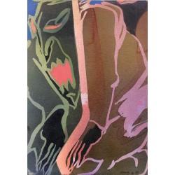ABAO Originaux Nihoul (Charles) - Acrylique sur carton.