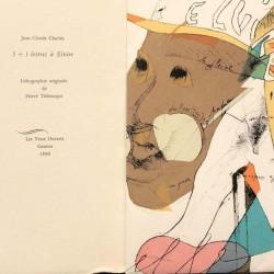 ABAO Poésie Charles (Jean-Claude) - 5 + 1 lettres à Elise. Lithographie originale d'Hervé Télémaque.
