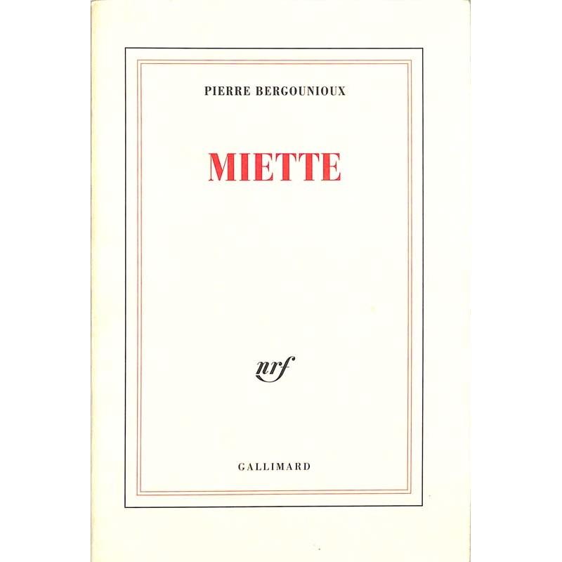 ABAO Romans Bergounioux (Pierre) - Miette.