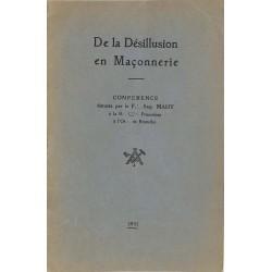 ABAO Franc-Maçonnerie Mahy (Aug.) - De la désillusion en maçonnerie.