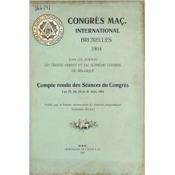 ABAO Franc-Maçonnerie Congrès maçonnique international Bruxelles 1904.